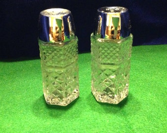 """Anchor Hocking """"Wexford"""" Salt And Pepper Shakers"""