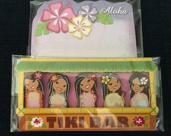 Hawaiian Hula Girl Tags