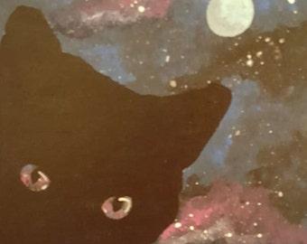 Cosmo - Black Cat OOAK Original Artwork