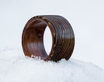 Handcrafted Wooden Ring - Katalox & Brazilian Rosewood