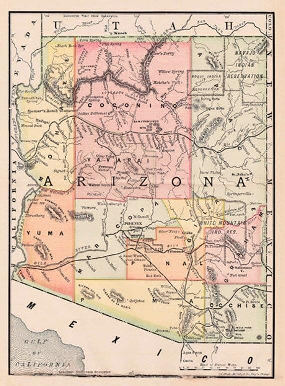 Critical image with printable arizona map