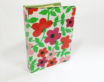 Vintage recipe binder, floral recipe book from the 1960s