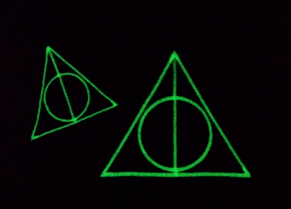 New Harry Potter Book Covers Glow In The Dark : Harry potter deathly hallows patch glow in the dark iron on
