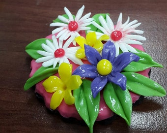 Flower bouquet Magnets.
