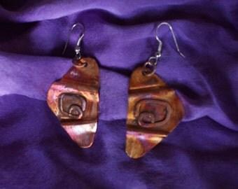 copper earrings mv201
