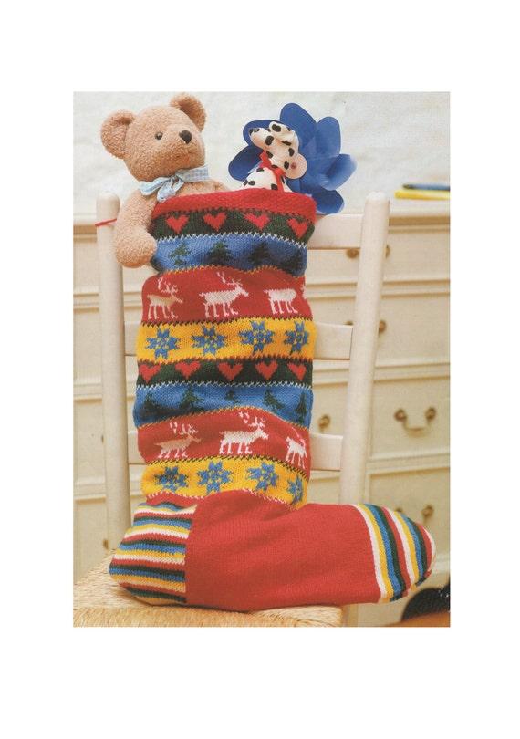 Christmas Stocking PDF Knitting Pattern : X-mas Sock . Decorative ...