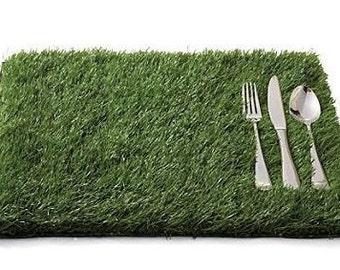 """Artificial Grass Placemats 12""""x18"""""""