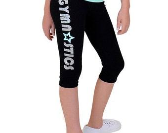 Girl's Gymnastics Capri Leggings