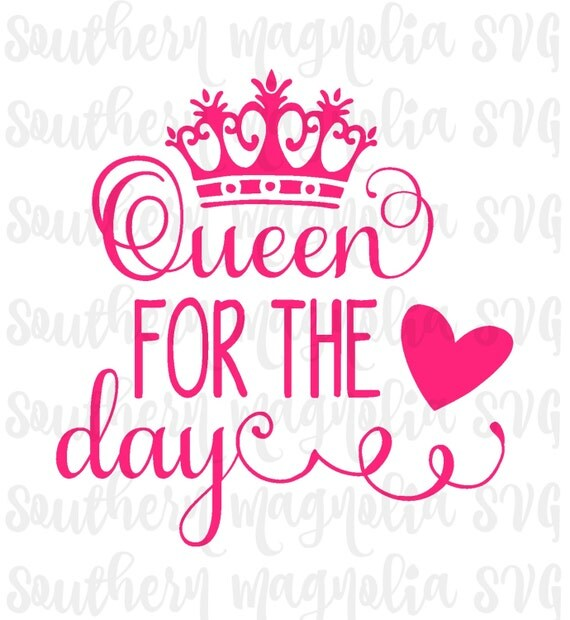 queen for the day tiara crown hearts silhouette cricut. Black Bedroom Furniture Sets. Home Design Ideas