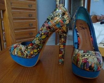 Comic Shoes (blue)