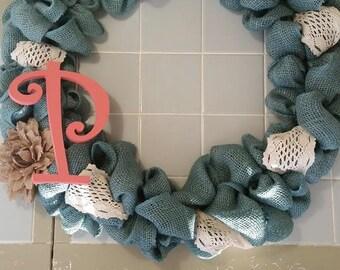 Custom Burlap Wreath