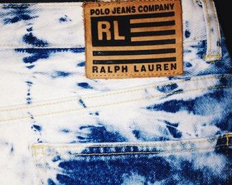 Vintage Ralph Lauren acid washed high waisted jeans / OurSkins