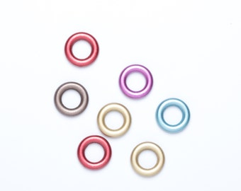 Acrylic Rings | Multi-coloured Rings | Closed Acrylic Rings | Jewellery Making Supplies