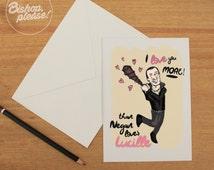 Negan Loves Lucille, Walking Dead TV Comic Greetings Card, Happy Anniversary Birthday gift