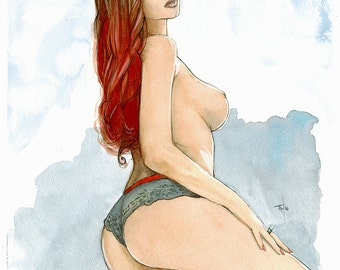 Girl | Watercolor | 11 x 15,8 inch | 28 x 40 cm