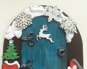 Christmas Fairy Door Magical Decoration