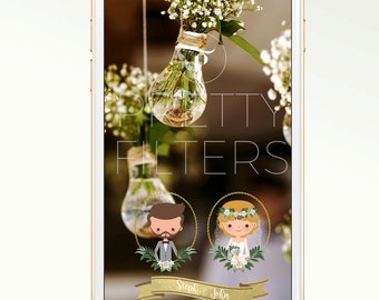 DIY Snapchat GeoFilter for Wedding | Personalised Portrait | We Customize for You | Perfect Gift