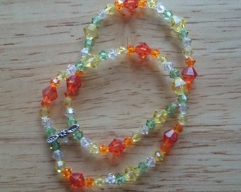 Fall colored crystal bracelet