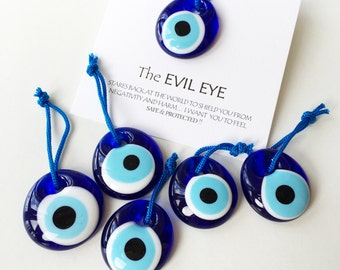100pcs Unique wedding favors - evil eye bead with card - nazar boncuk - turkish evil eye bead - personalized wedding favors - bulk gifts