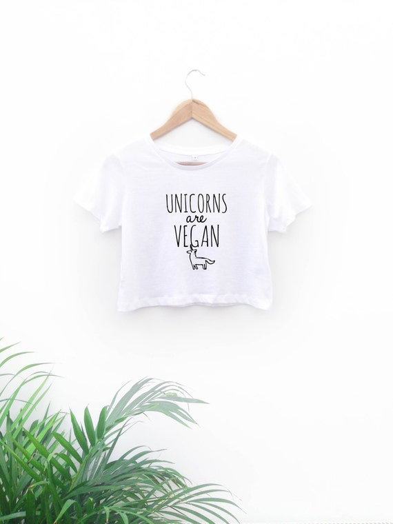 Unicorns are Vegan Cropped Top