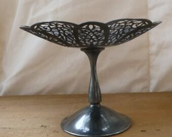 Antique Silver Pedestal Dish
