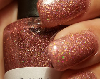 "Unique Holographic ""Sugared Plum"" Glitter Nail Topper/Polish Full Size 15ml Bottle"