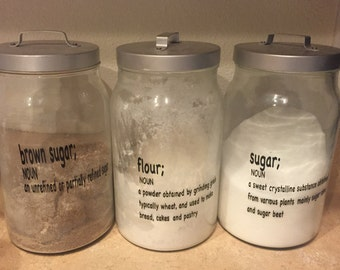 Kitchen Container Labels Set of 4