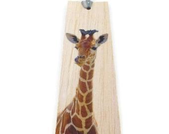 Wooden bookmark - Wood bookmark - Giraffe bookmark - Unique bookmark - Animal bookmark - Baby giraffe - Handmade bookmark - Book lover gift