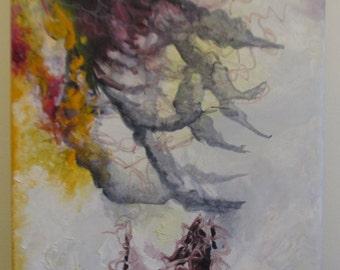 "An original oil on canvas titled ""Shadows"""