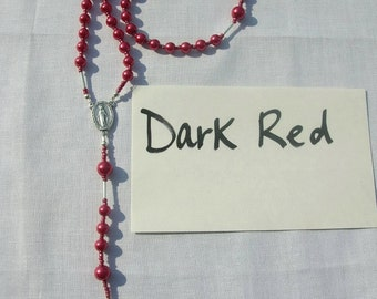 Dark Red Rosary