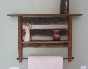 Bathroom Towel Rack and Shelving