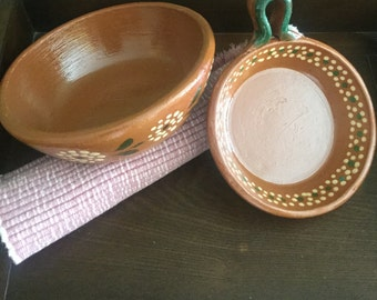 Set of two Mexican bowls handcrafted