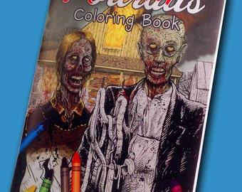 Zombie Portrait Coloring Book