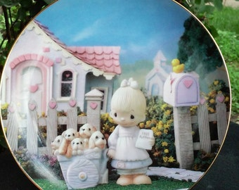 Vintage 1993 Enesco Precious Moments Collector Plate by Hamilton Collection, Rare