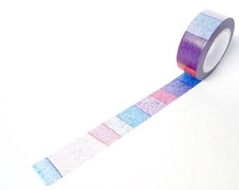 WATERCOLOUR WASHI TAPE -  Blue, Purple, Mauve, Pink Watercolour Japanese Masking Tape / Washi Tape (15mm x 10 Metres)