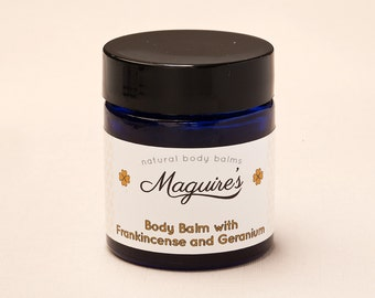 Beautiful Body Balm with Neroli, Geranium and Frankincense. Soothes dry skin and wrinkles, Natural,Organic, Gentle Moisturiser.