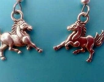HORSE EARRINGS,Running Horse earrings,Cowgirl Horse Jewelry,Southwestern Style,Western Horse Earrings,Horse jewelry,Country horse earring
