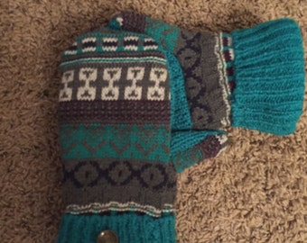 Upcycled Sweater Mitten