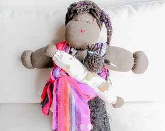 Manuela rag doll that breastfeeds