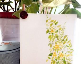 Watercolour painting postcard