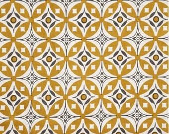 Elmas Tea Towel Golden Yellow / Charcoal Grey