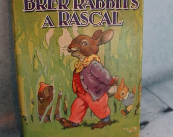 Vintage Enid Blyton Brer Rabbit's a Rascal HB Book with dustcover 1965