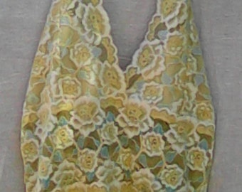 Yellow Lace Halter Top
