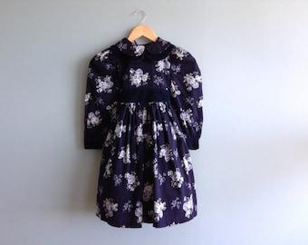 Vintage Floral Girl's Dress Size 6