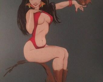 Vampirella original painting circa 1969