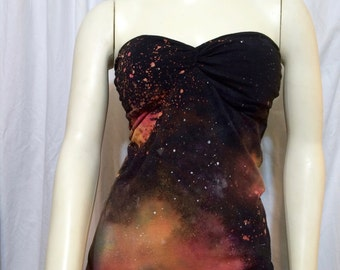 Women's Strapless Sweetheart Galaxy Top, Medium