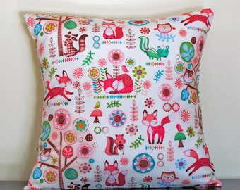 Decorative Pillow Covers, Kids Bedroom Decor, Gifts under 20, Childrens Cushion Cover, Playroom Decor, Nursery Decor, 16x16 Pillow, Handmade