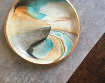 Earthy Gold Jewelry Dish