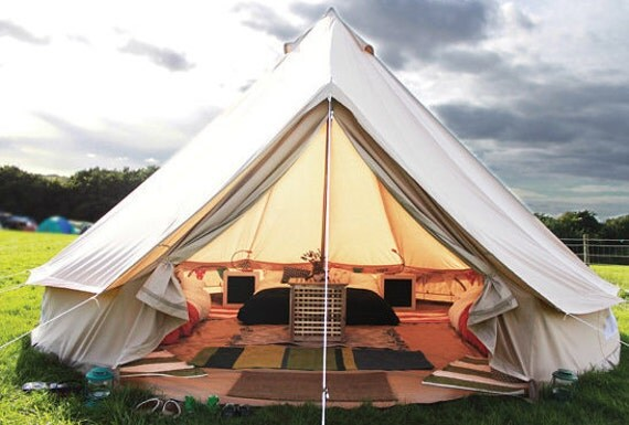 Bell Tent For Glamping16 Ft Roundfestival By Coywolfcanvas