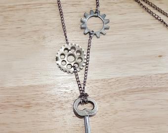 Antique Skeleton Key Steampunk Necklace